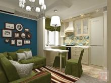 Фото дизайна интерьера однокомнатной квартиры площадью 40 м.кв. в г.Батайске