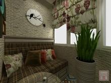 Фото дизайна интерьера балкона